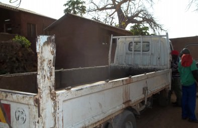 The organics recycling truck used for the Africa composting outreach program.