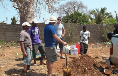 Phil leading a composting outreach program in Mozambique, Africa 2013