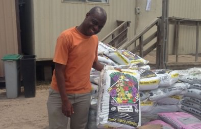 White House Young African Leader, Joel, checking out our sustainable products!