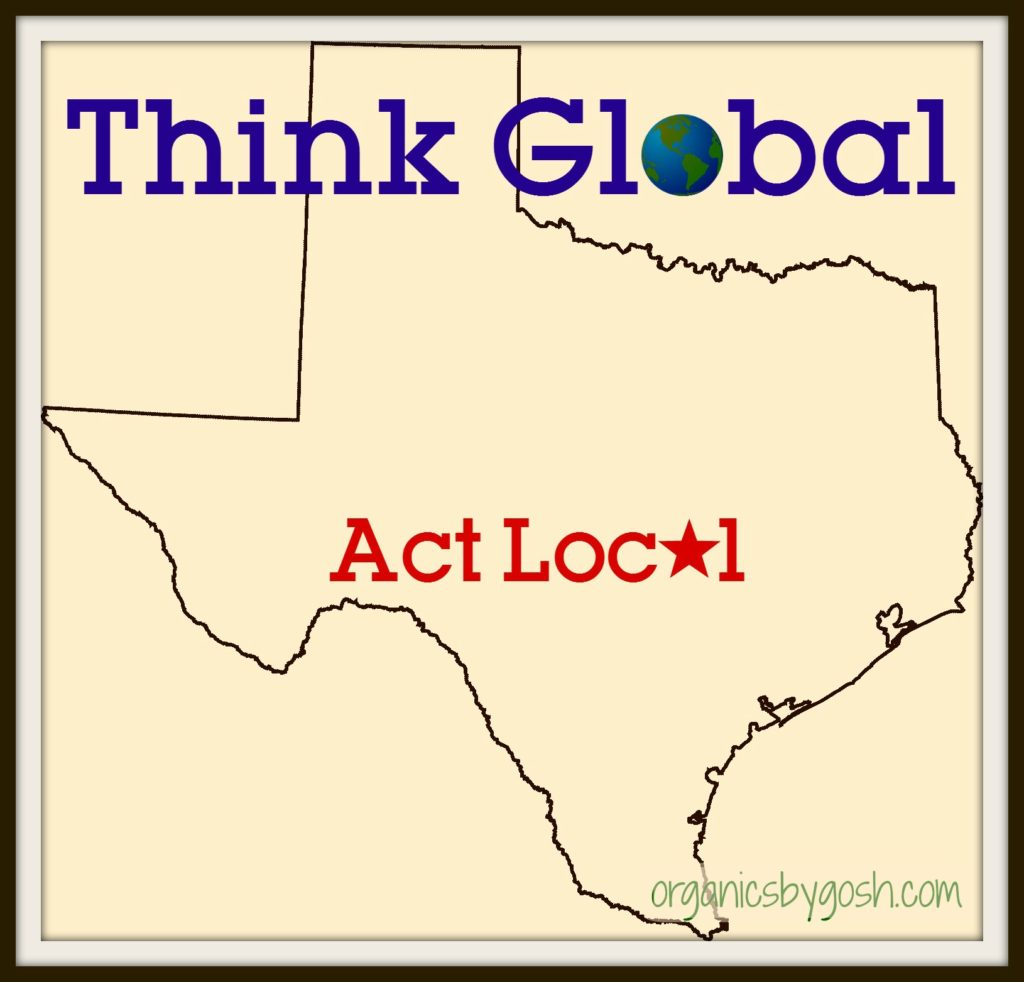 Think Global Act Local Texas