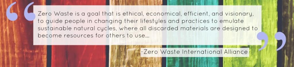 ZWIA Zero Waste Quote